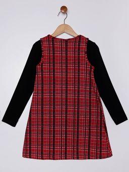 Vestido-com-Blusa-Infantil-para-Menina---Vermelho-preto