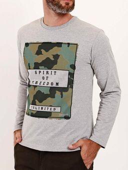 Camiseta-Manga-Longa-Estampa-Camuflada-Masculina-Cinza