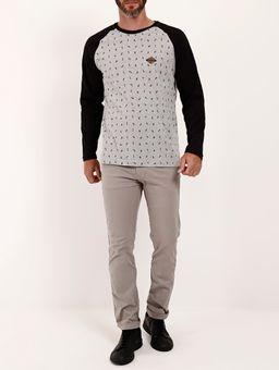 Camiseta-Manga-Longa-Full-Surf-Masculina-Cinza-preto