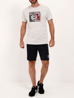 Camiseta-Manga-Curta-Gangster-Masculina-Bege-P