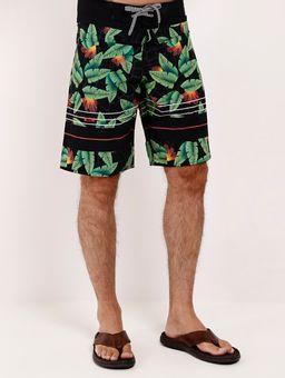 Bermuda-Surf-Estampada-Federal-Art-Masculina-Preto-verde