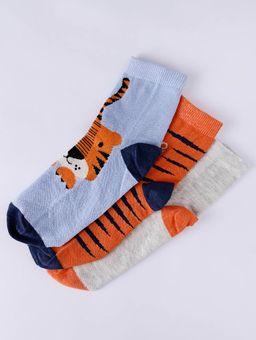Kit-com-03-Meias-Infantis-Para-Menino---Azul-bege-laranja-P