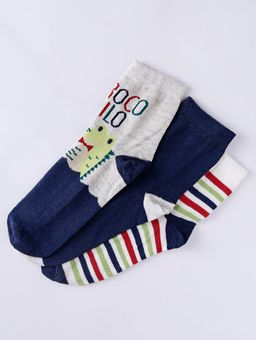 Kit-com-03-Meias-Infantis-Para-Menino---Cinza-azul-amarelo-P