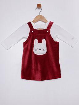 Vestido-Veludo-com-Body-Infantil-Para-Bebe-Menina---Vermelho-bege