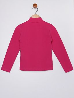 Blusa-Manga-Longa-Gola-Alta-Infantil-Para-Menina---Rosa-Pink-6