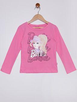 Blusa-Manga-Longa-Barbie-Infantil-Para-Menina---Rosa-6