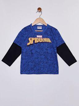 Camiseta-Manga-Longa-Spiderman-Infantil-Para-Menino---Azul-1