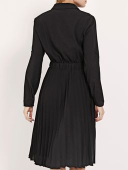 Vestido-Midi-Plissado-Feminino-Preto