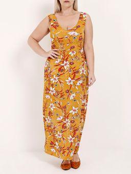 Vestido-Longo-Plus-Size-Feminino-Amarelo-M