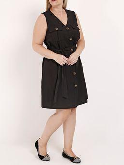 -Vestido-com-Botoes-Plus-Size-Feminino-Preto
