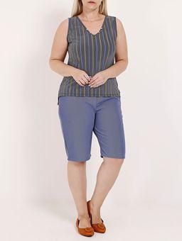 Blusa-Regata-Estampada-Decote-V-Plus-Size-Feminina-Azul-cinza