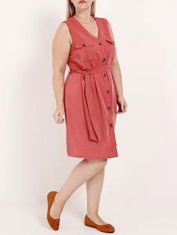 Vestido-com-Botoes-Plus-Size-Feminino-Rosa