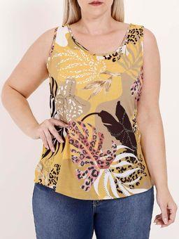 Blusa-Regata-com-Estampa-Cativa-Plus-Size-Feminina-Amarelo