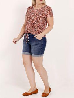 Short-Jeans-Cintura-Alta-Plus-Size-Feminino-Azul