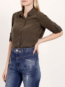 Camisa-Liocel-Manga-3-4-Feminina-Verde-P