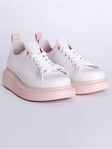 Tenis-Casual-Zaxy-Bold-Feminino-Branco-rose-35