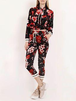 Calca-Veludo-Floral-Feminina-Preto-vermelho-P