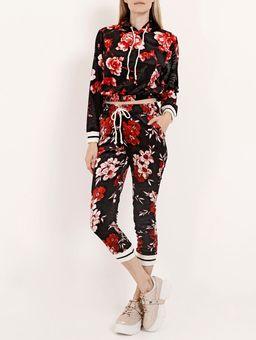 Blusao-Veludo-Floral-Feminino-Preto-vermelho-P