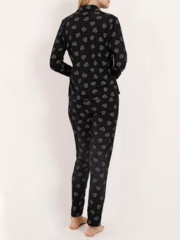Pijama-Longo-Malha-Feminino-Preto