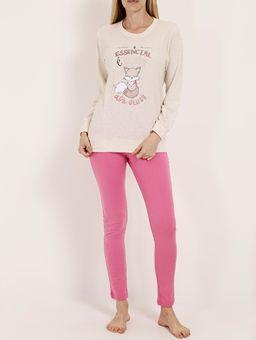Pijama-Longo-Feminino-Bege-rosa-P