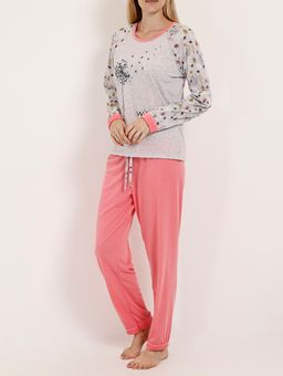 Pijama-Longo-Feminino-Cinza-rosa-P