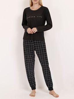 Pijama-Longo-Xadrez-Feminino-Preto