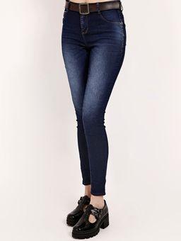 Calca-Jeans-com-Cinto-Pisom-Feminina-Azul