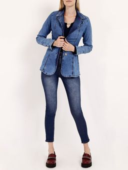 Calca-Jeans-com-Amarracao-Pisom-Feminina-Azul