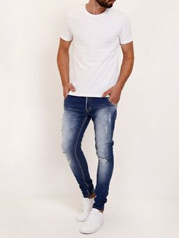 Calca-Jeans-Destroyed-Masculina-Azul