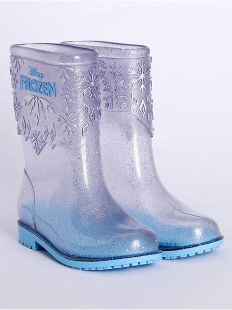 Bota-Galocha-Frozen-Infantil-para-Menina---Transparente-azul
