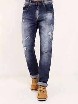 Calca-Jeans-com-Rasgos-Masculina-Azul