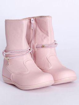 Bota-com-Tiras-Infantil-para-Bebe-Menina---Rosa