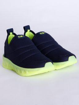 Tenis-Kid--com-Luzes-Infantil-para-Menino---Azul-amarelo-Neon