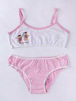 Conjunto-Lingerie-Juvenil-Para-Menina-Turma-da-Monica---Rosa-branco