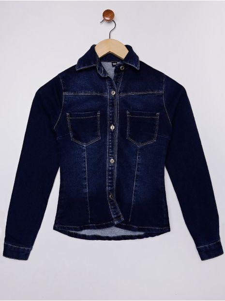 Camisa-Jeans-Manga-Longa-Juvenil-Para-Menina---Azul-