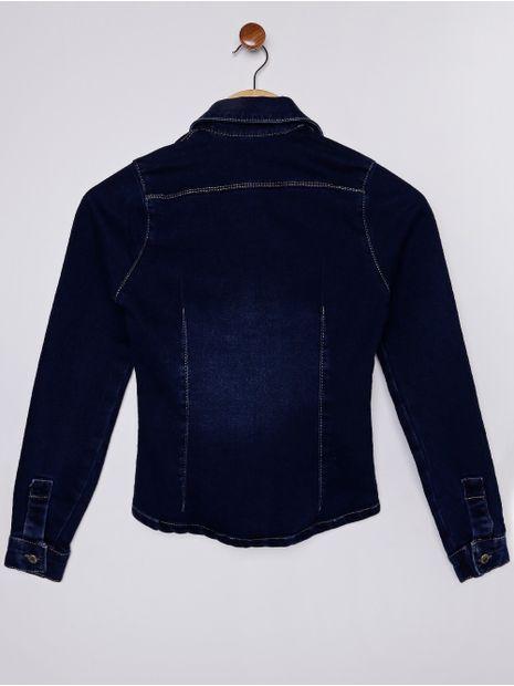 Camisa-Jeans-Manga-Longa-Juvenil-Para-Menina---Azul