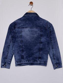 Jaqueta-Jeans-com-Bolsos-Juvenil-para-Menino---Azul