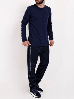 Camiseta-Basica-Manga-Longa-Masculina-Azul-Marinho