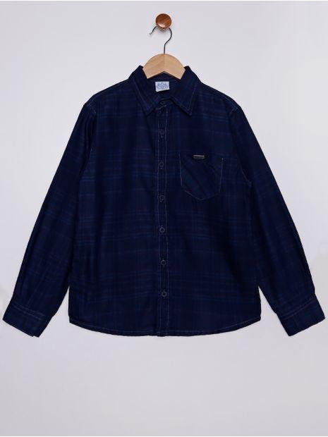 Camisa-Jeans-Xadrez-Juvenil-Para-Menino---Azul-16