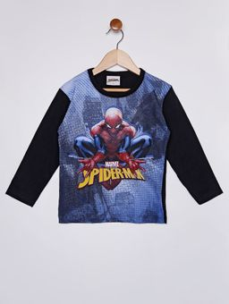Camiseta-Manga-Longa-Spiderman-Infantil-Para-Menino---Preto-1