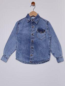 Camisa-Jeans-com-Bolso-Infantil-Para-Menino---Azul-6