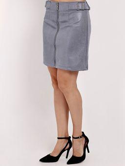Saia-Curta-com-Ziper-Feminina-Azul