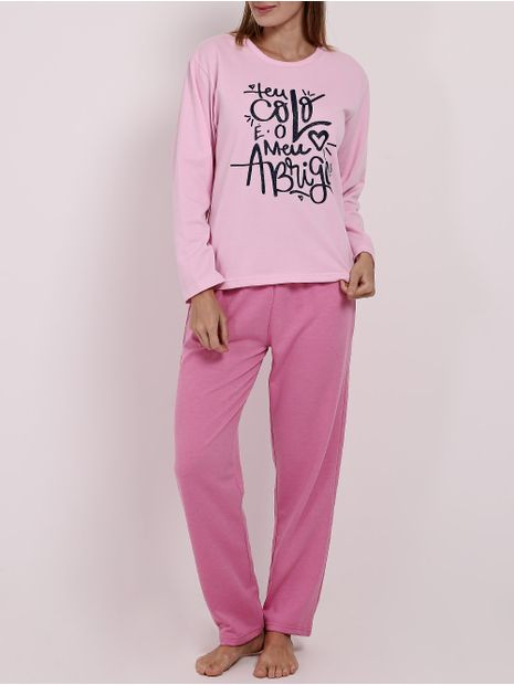 Pijama-Moletom-Feminino-Rosa