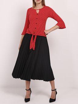 Blusa-Poa-Manga-3-4-Feminina-Vermelho