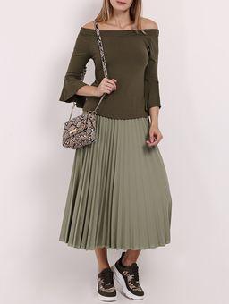 Blusa-Ciganinha-Manga-¾-Feminina-Verde