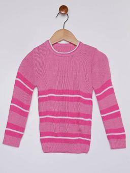 Blusao-em-Tricot-Infantil-para-Menina---Rosa-branco