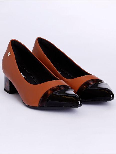 Sapato-Scarpin-Bico-Fino-Salto-Medio-Piccadilly-Marrom