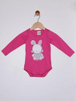 Body-Coelho-Manga-Longa-Infantil-para-Bebe-Menina---Rosa-Pink