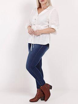 Camisa-Manga-3-4-Plus-Size-Feminina-Branco-G2
