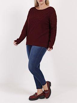 Blusa-de-Tricot-Plus-Size-Feminina-Bordo-G